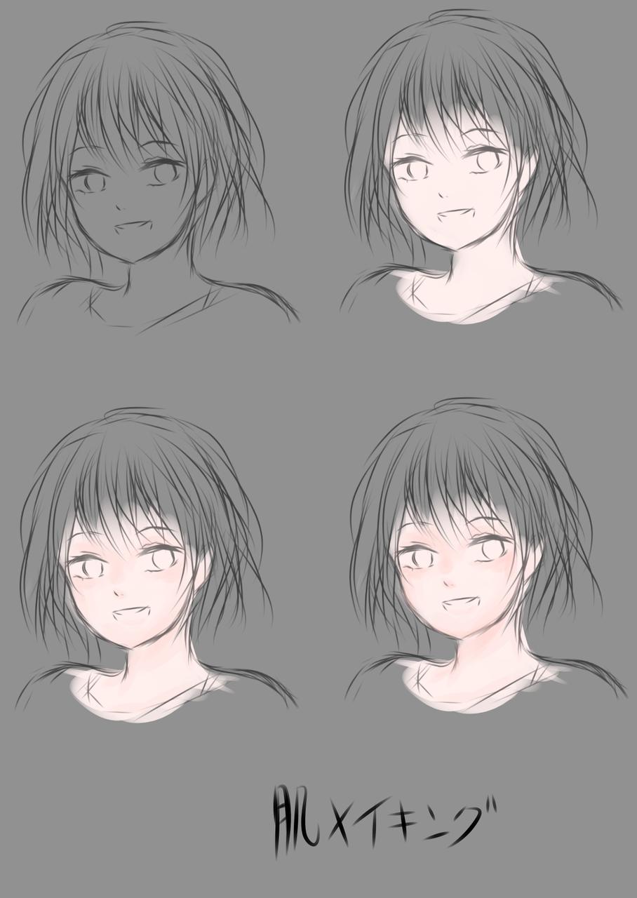 肌、髪メイキング Illust of 嫺やか The_Challengers medibangpaint メイキング hair tutorial