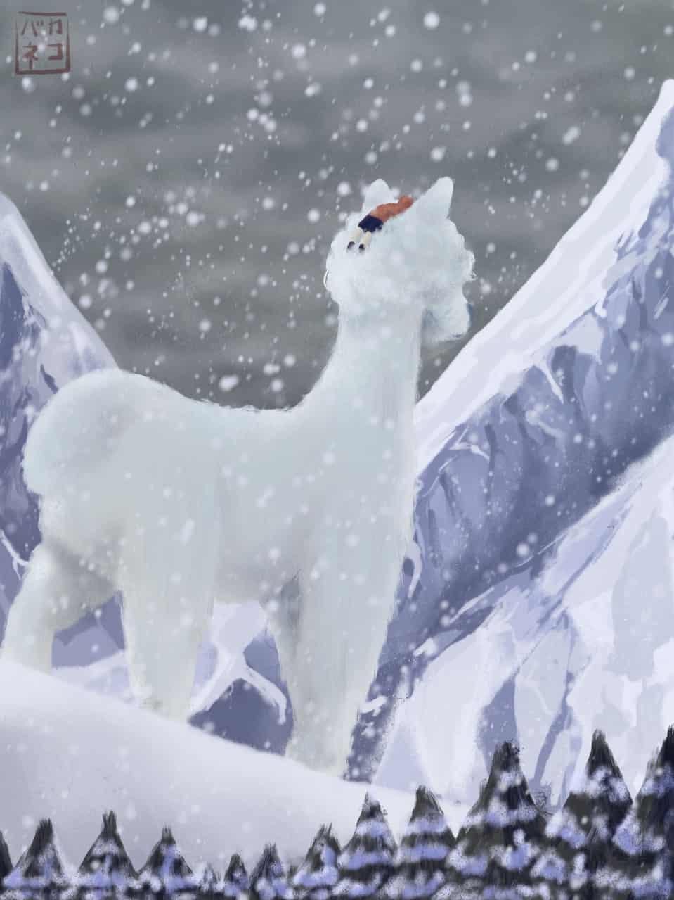 Winter wonderland Illust of madishon [マデ] September2020_Contest:Furry digital painting oc illustration winter