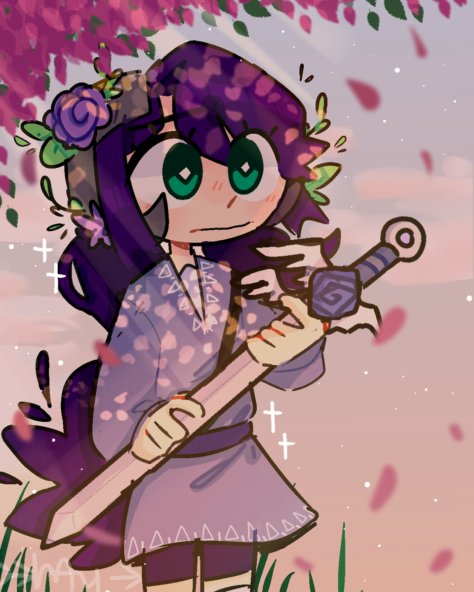 When the sketch is better than the lineart Illust of mayple medibangpaint What mayple flowers