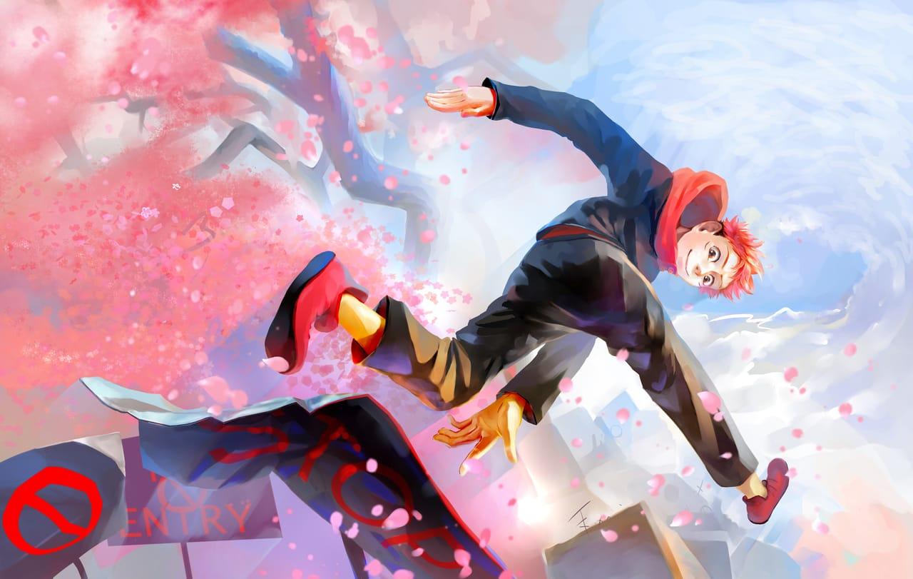 Stop never Illust of Lear JujutsuKaisenFanartContest Yuji_Itadori fanart JujutsuKaisen