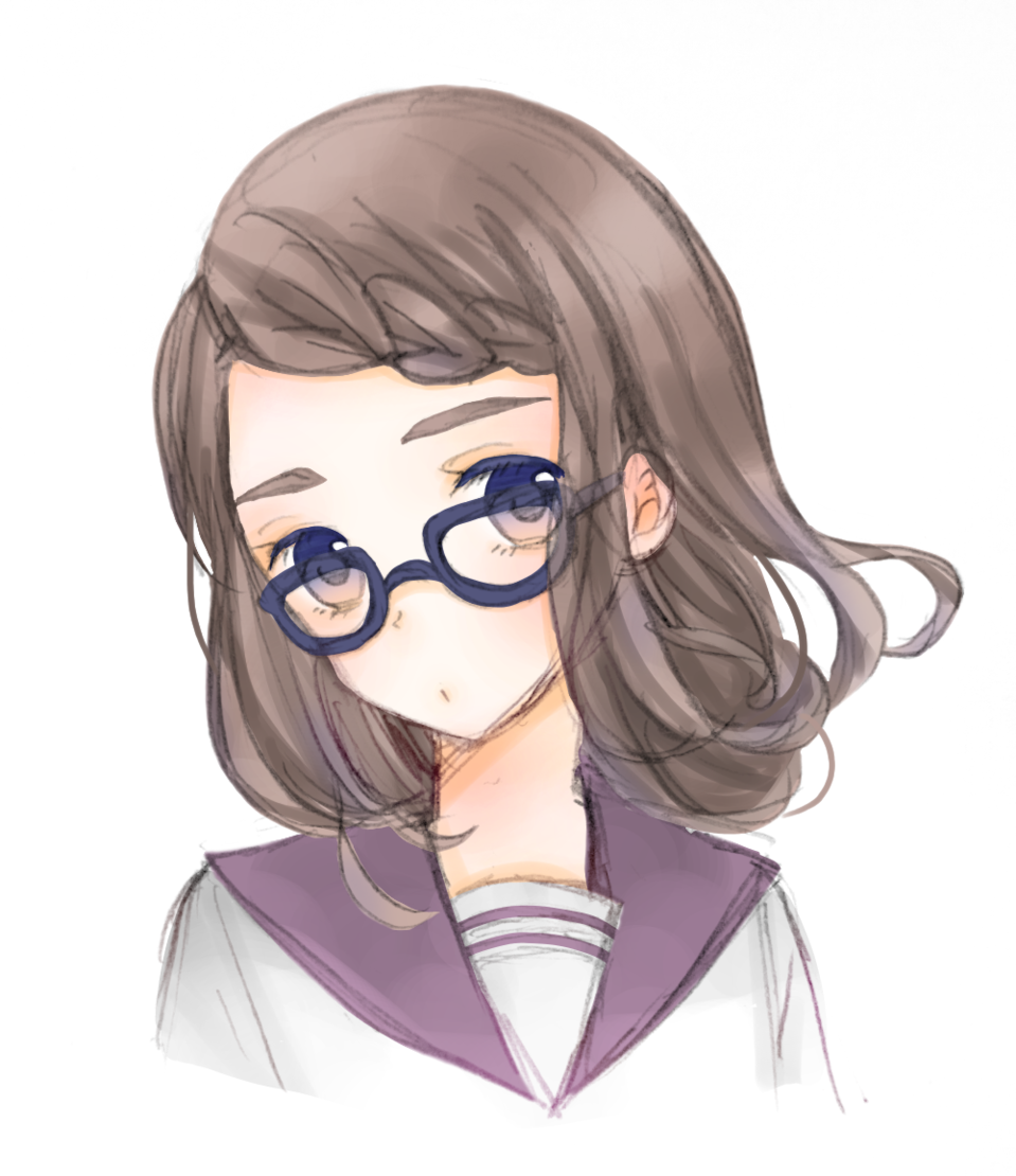 Illust of Ruki illustration girl original glasses