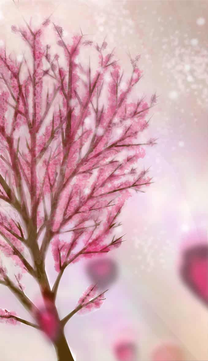Shkediah tree Illust of GinaB photoshop pink tree digital Shkediah