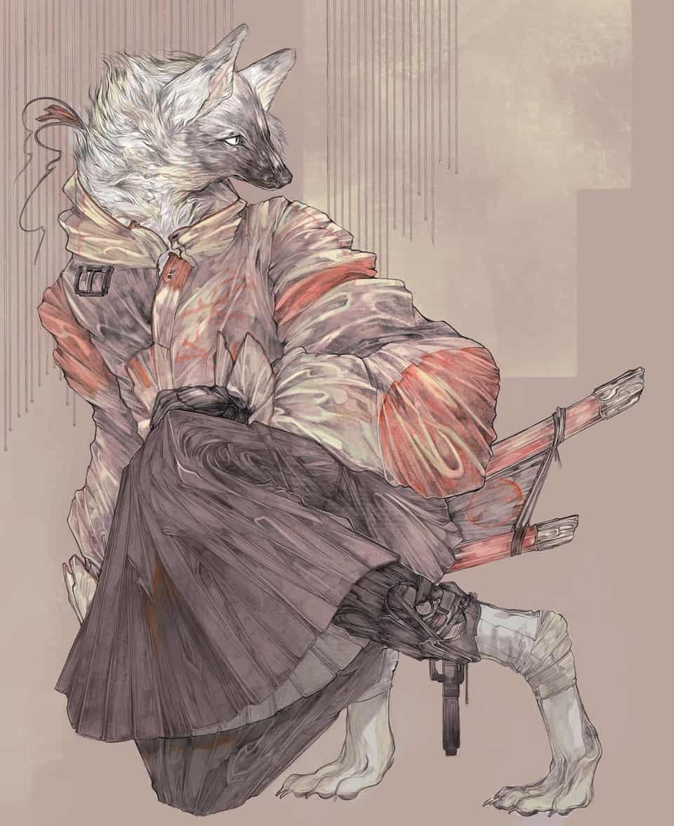 WOLF Illust of Koiutre September2020_Contest:Furry art animal furry original wolf 狼人 oc