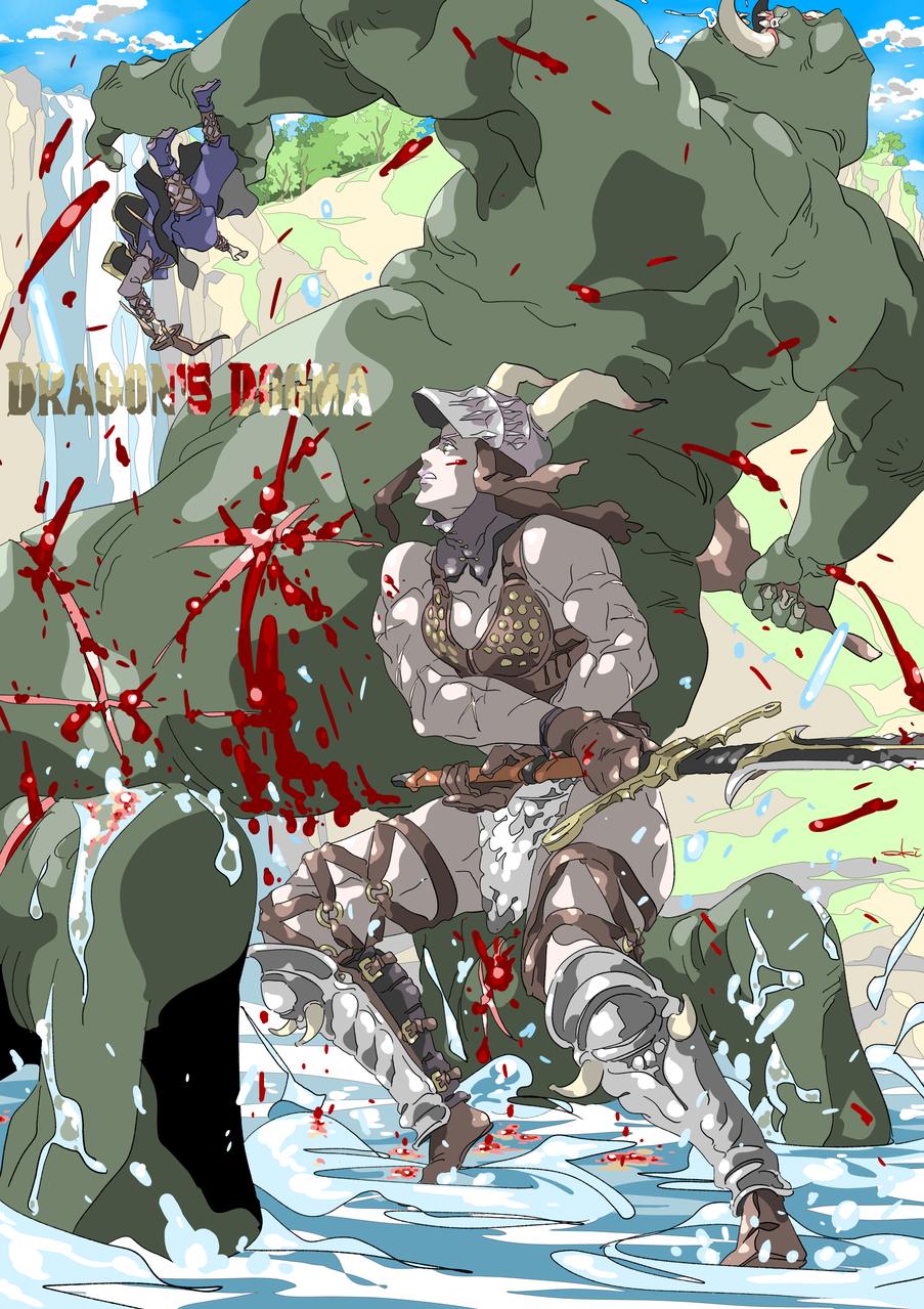 DRAGON'S DOGMA-04 Illust of oki fantasy blood ドラゴンズドグマ game