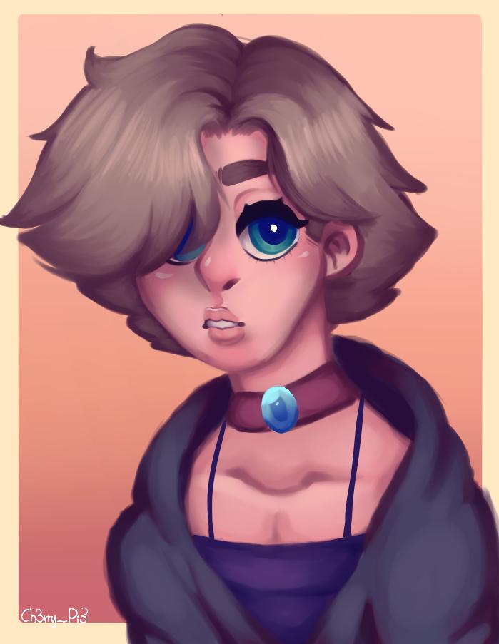 Thomas Norbert Illust of ♣︎Ch3rry_Pi3♣︎|Edd boy blue eyes yellow cute Ch3rry_Pi3 oc