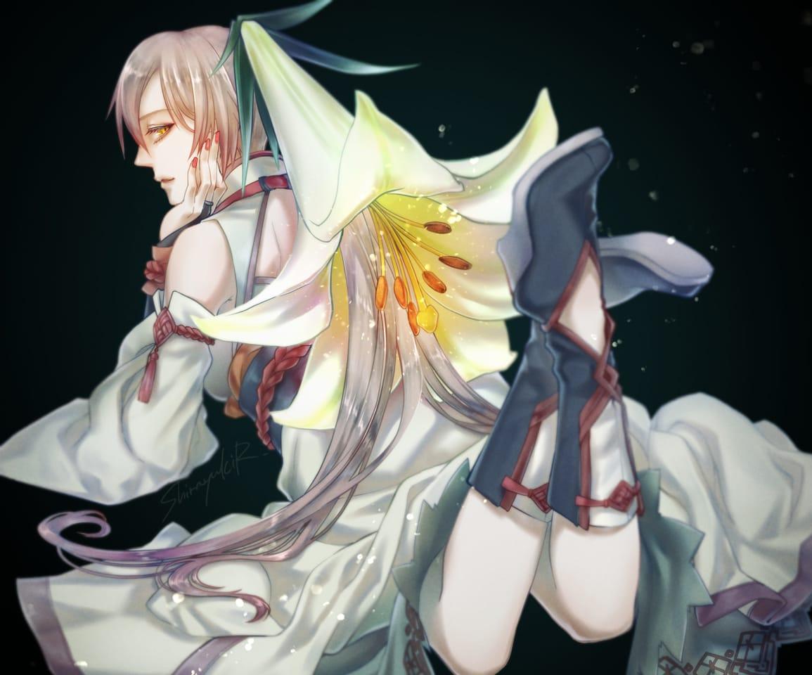 Lily Illust of 白雪R April2021_Flower oc woman original