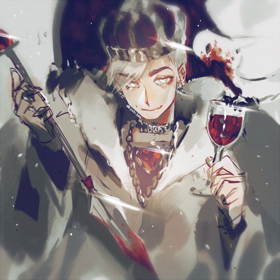 Hiiii I'm back everyone! 💖 Illust of poki.han crown medibangpaint Wine King Dove