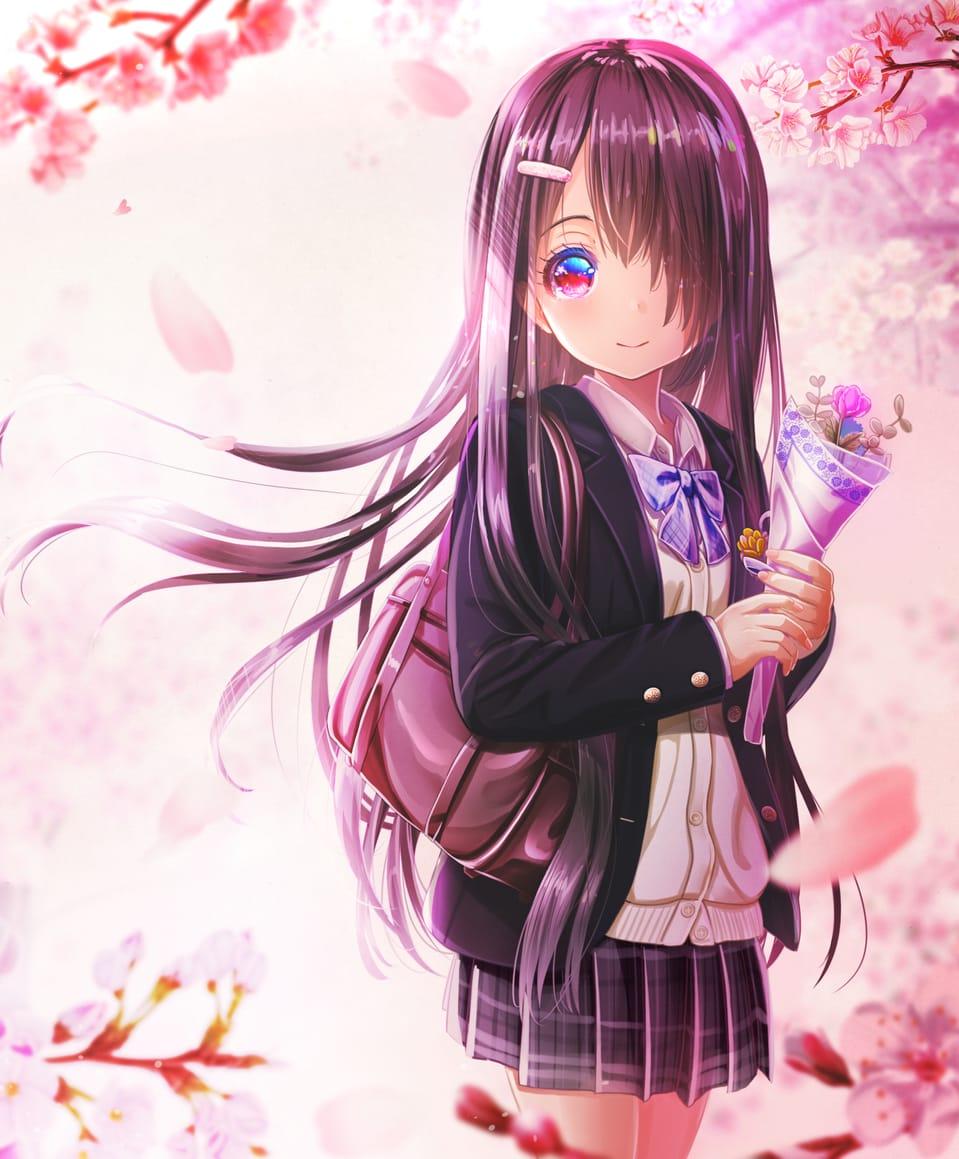 じゃあね🌸 Illust of あいうあぼ 春 girl original sakura