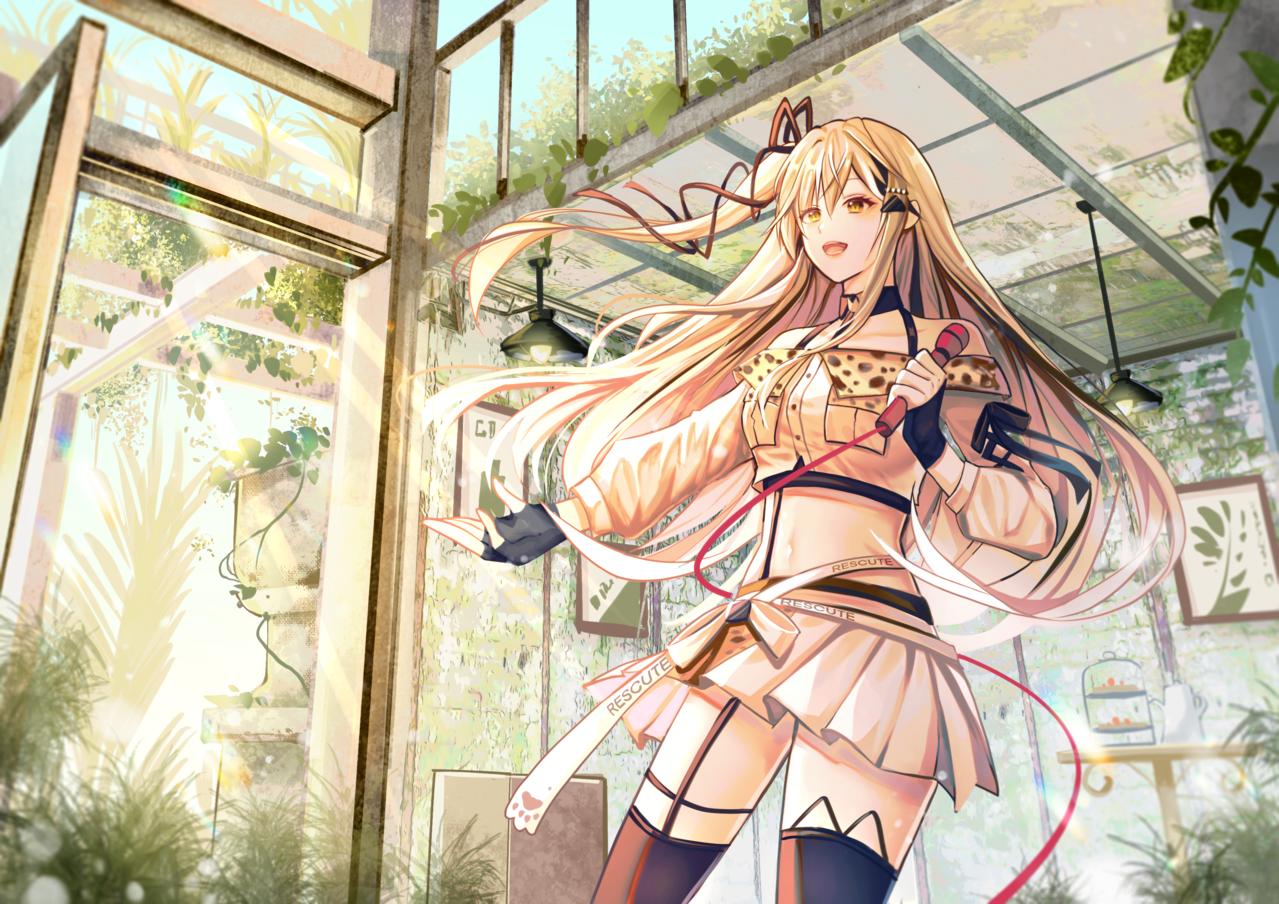 15號 Illust of 白露 green illustration virtual_YouTuber fanfic 植物 background woman girl Girls kawaii