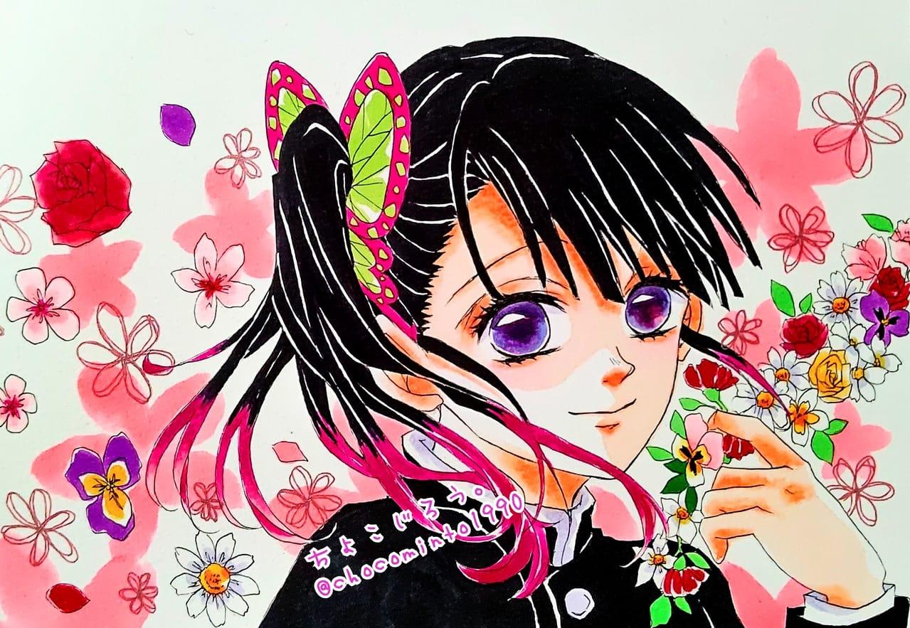 カナヲ Illust of ミト TsuyuriKanao KimetsunoYaiba コピックイラスト