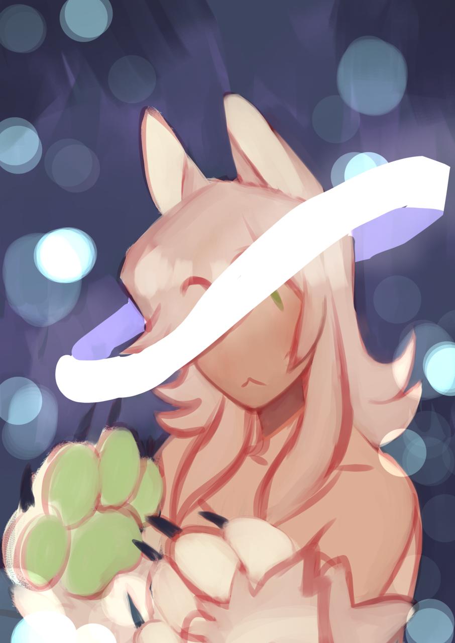 warmup Illust of 新芽 oc anime werewolf medibangpaint sona