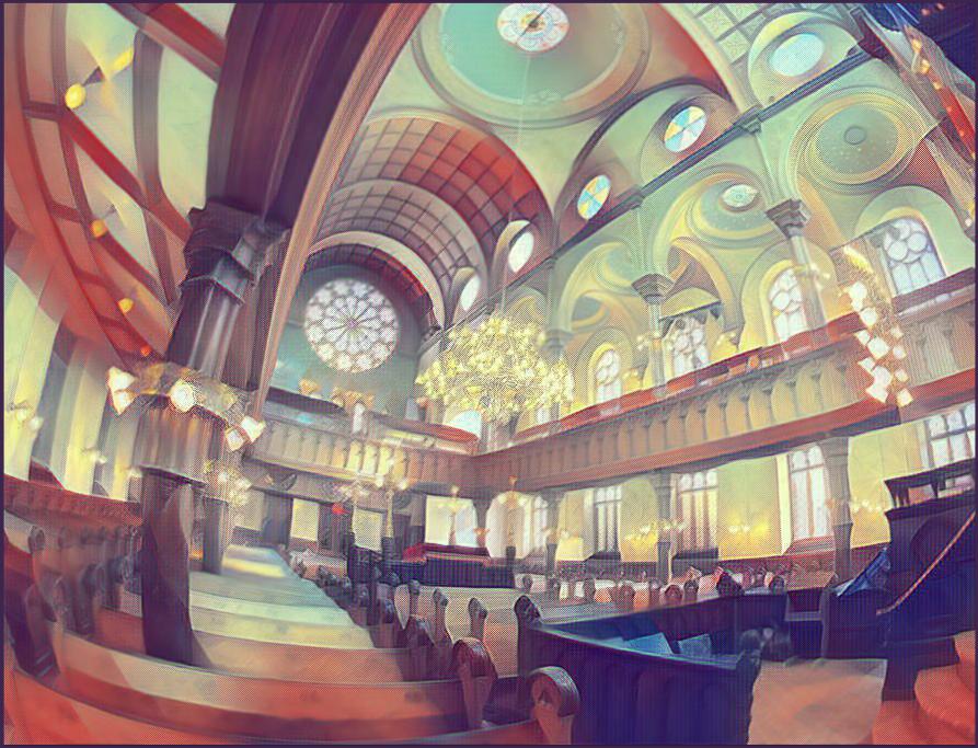 Buildings: Eldridge Street Synagogue Illust of calamari brag.your.country