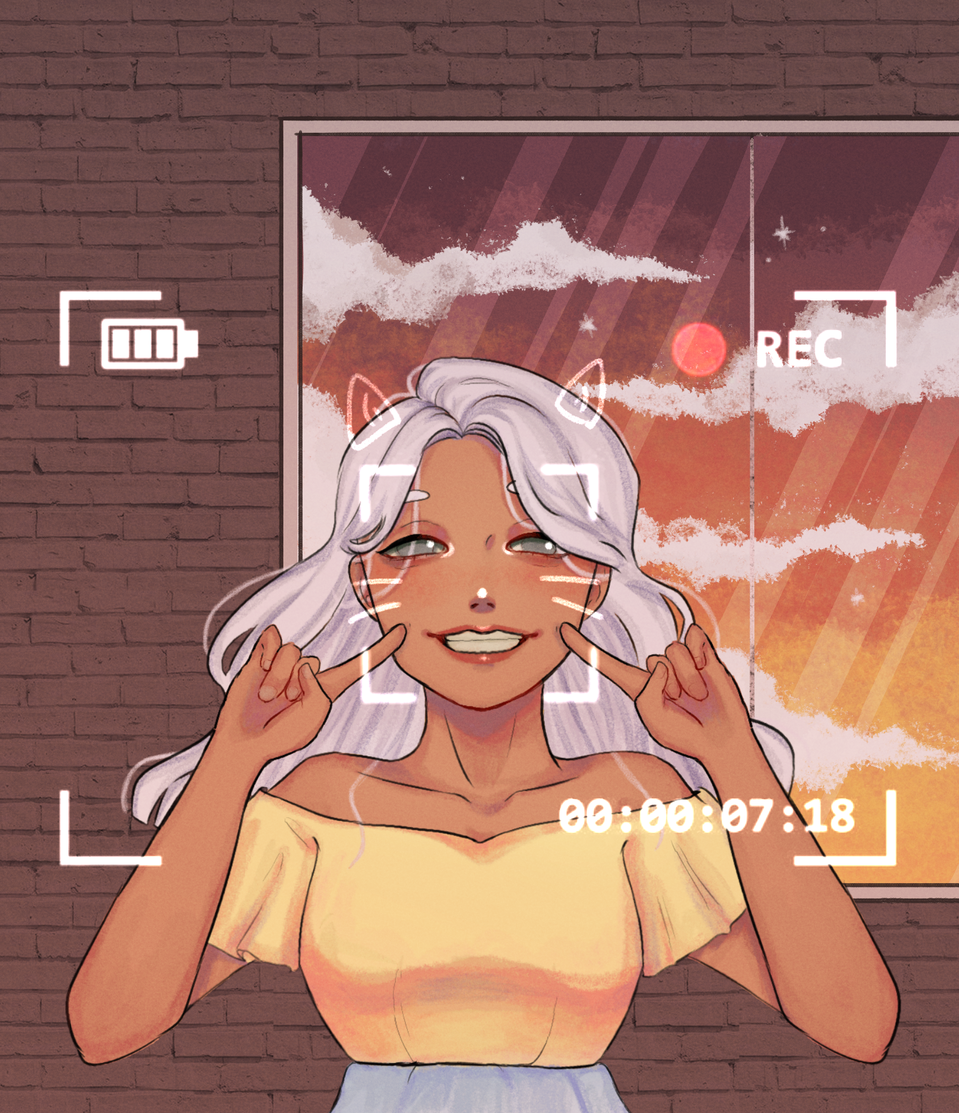 Say cheese! Illust of Rææ May.2020Contest:Cheering medibangpaint sunset Warm Cheese smile Cheers