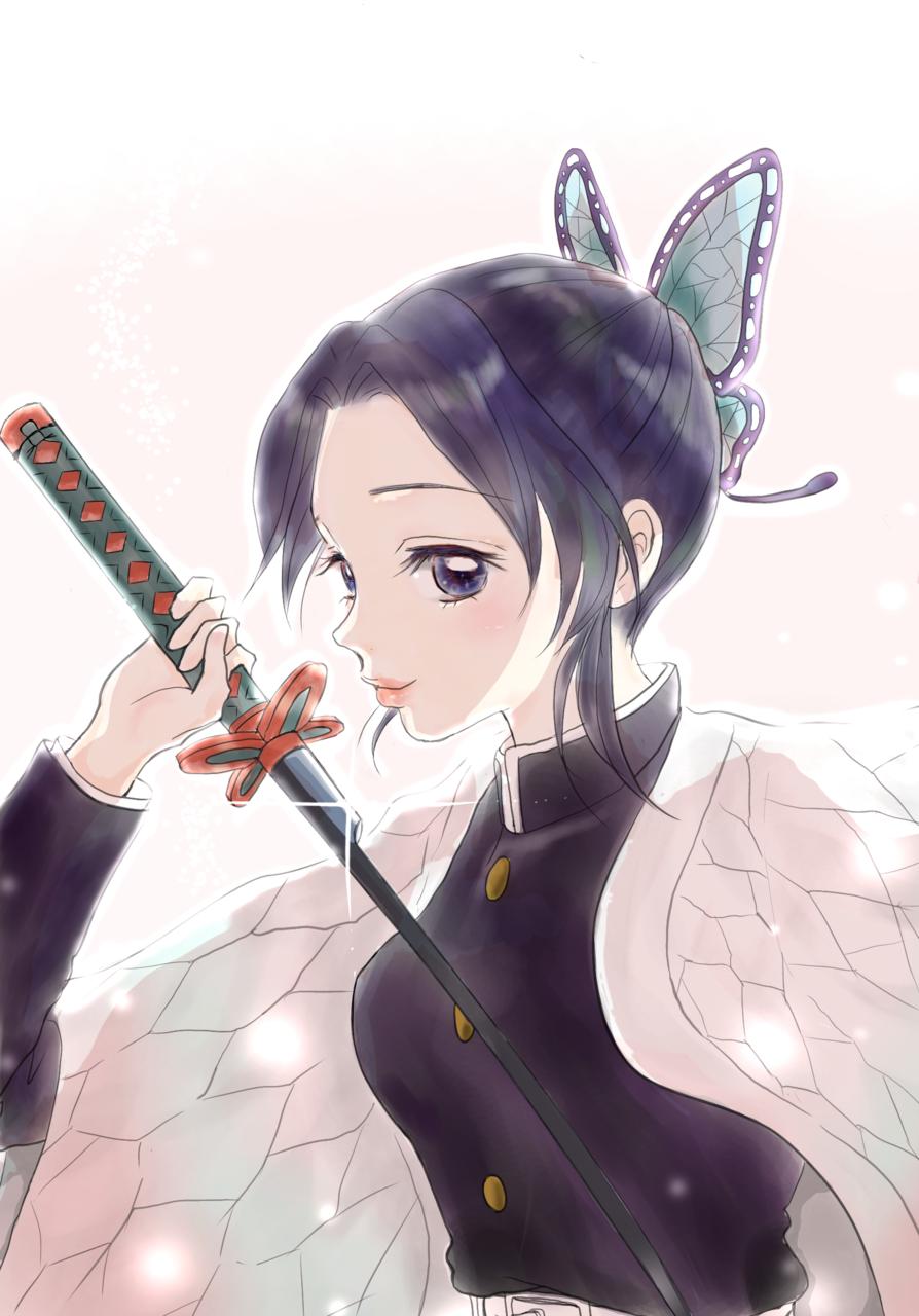 胡蝶×夢 Illust of Kiki DemonSlayerFanartContest iPad_raffle 鬼滅の刃イラストコンテスト