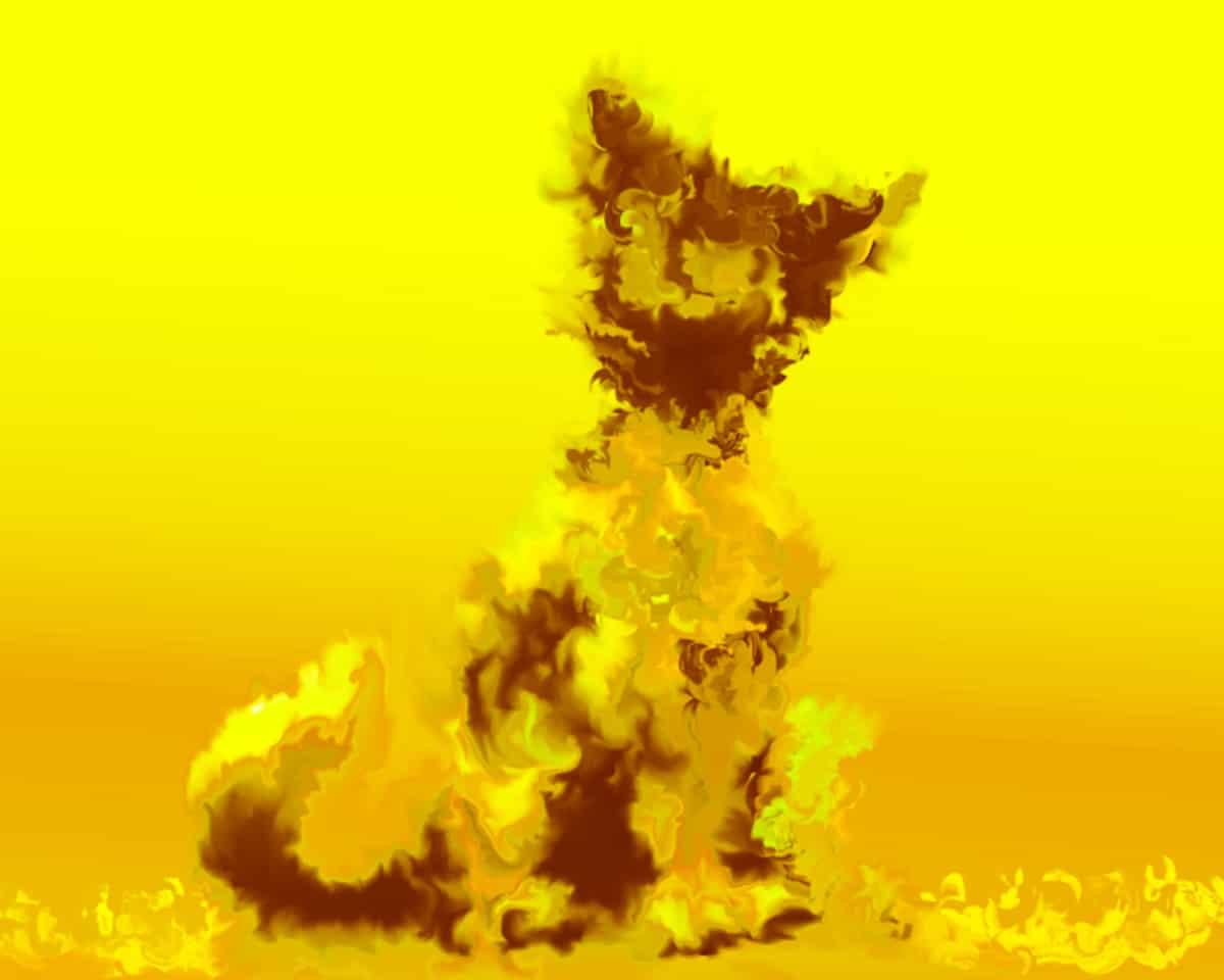 何も思いつきません Illust of 黒白 medibangpaint friend giallo gatto Magia carino