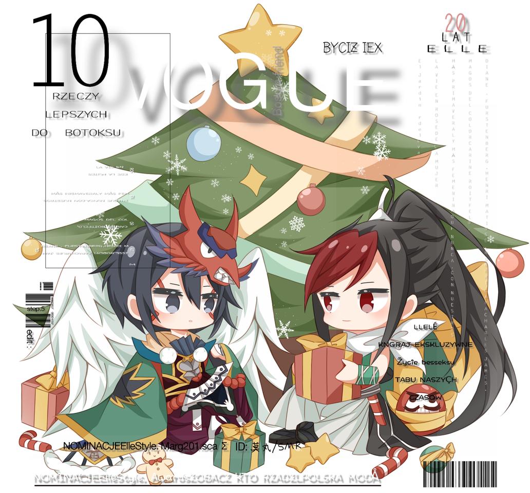 发一发稿子XD圣诞快乐——! Illust of 莫丸——!XD Christmas portrait chibi cute Onmyouji