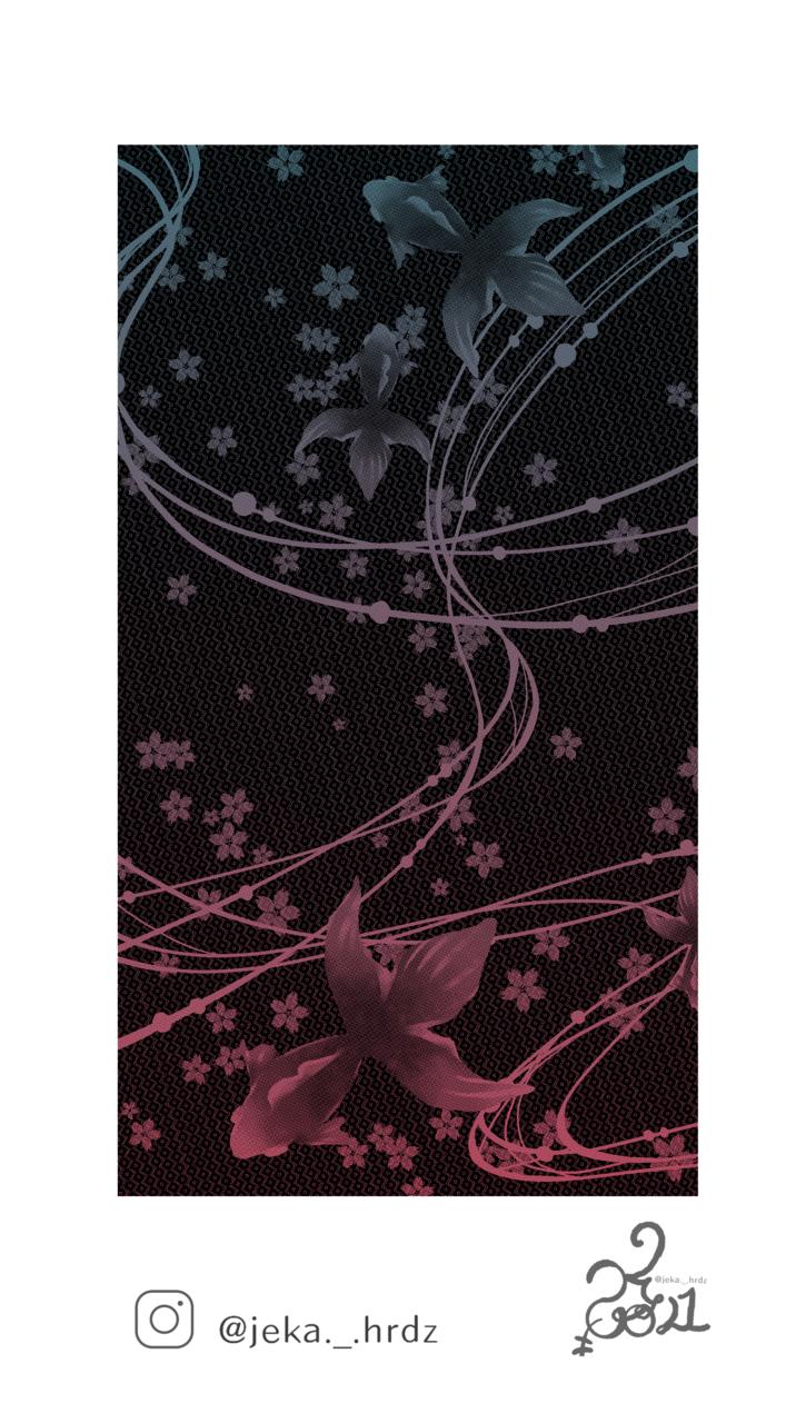 여름 물고기 v2 Illust of ♡예카♡ May2021_Monochrome April2021_Flower dark MyArt fanart Artwork color medibangpaint cheongsam illustration 물고기 flower digital