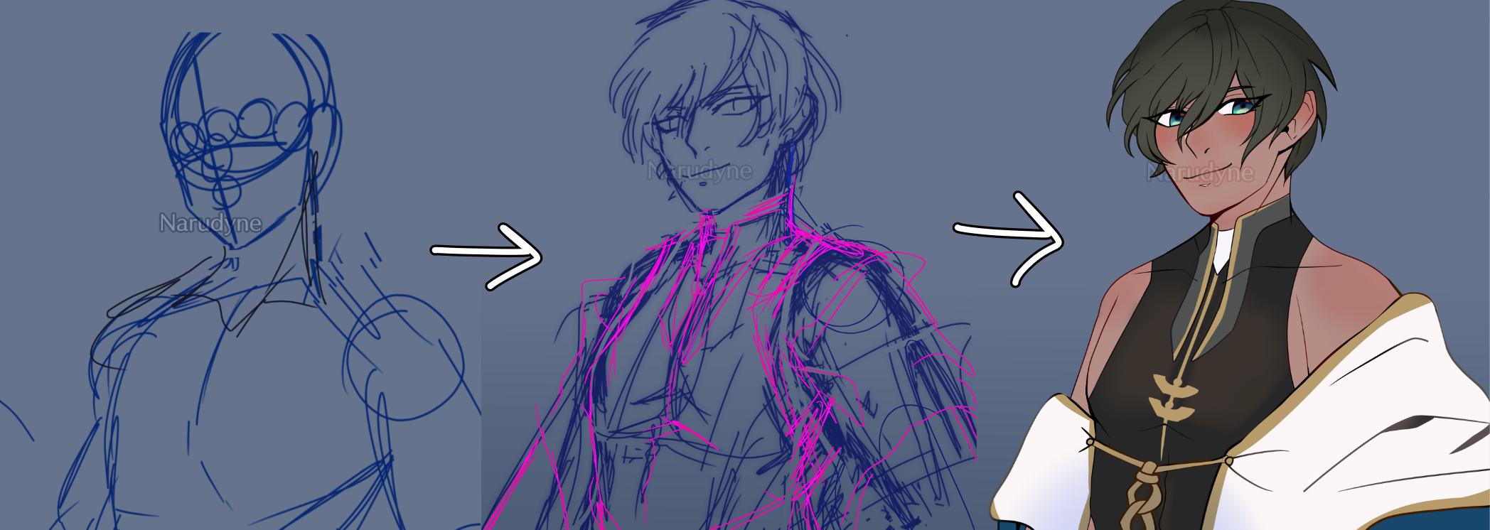 Yo it's Simeonnn Illust of ɴᴀʀᴜᴅʏɴᴇ • sᴋ𝟾 ʙʀᴀɪɴʀᴏᴛ anime angel obeyme digital fanart thisartshouldlvlup boy