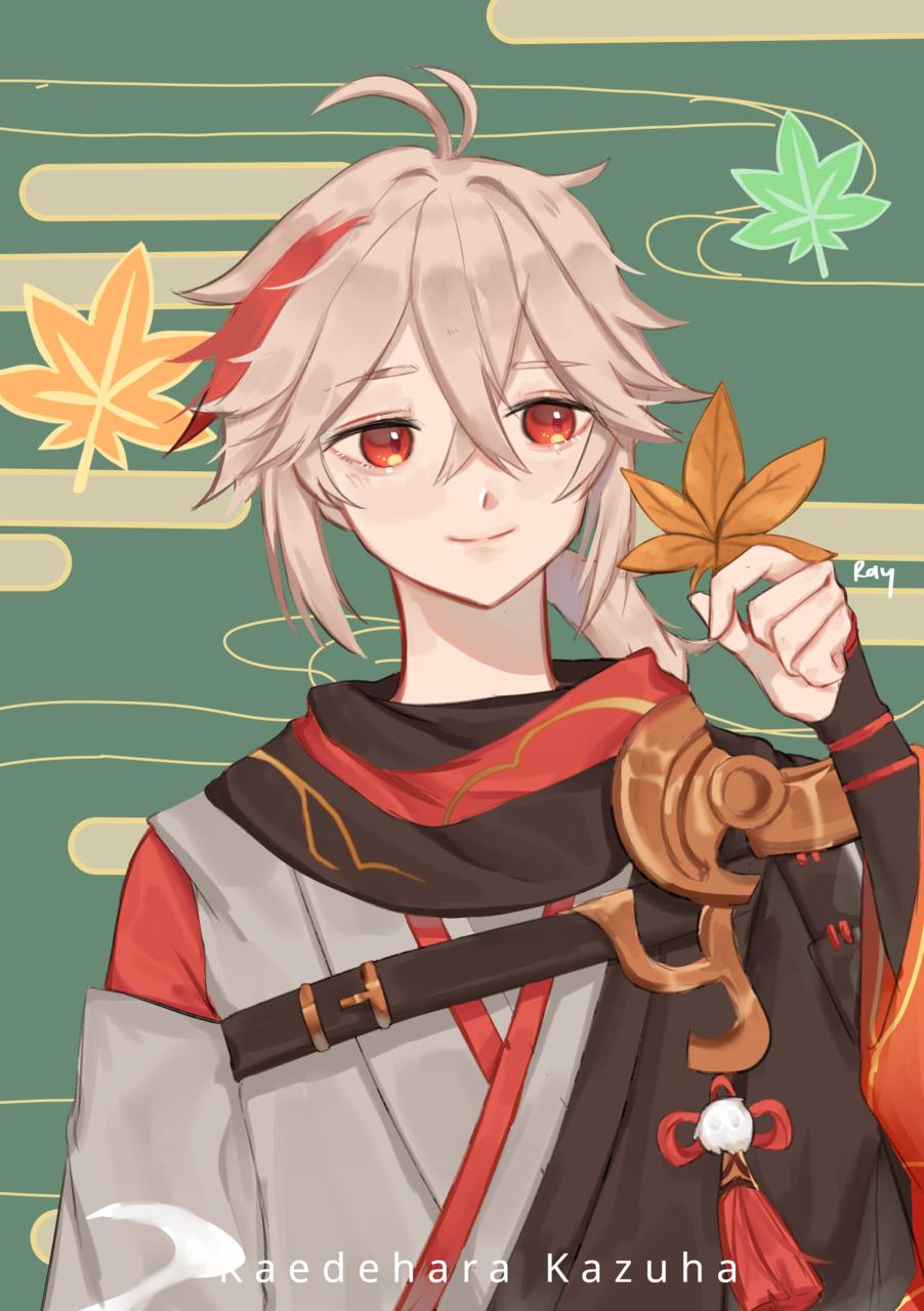 Auntum Boy, kaedehara kazuha Illust of Norrix medibangpaint GenshinImpact genshinimpactfanart boy
