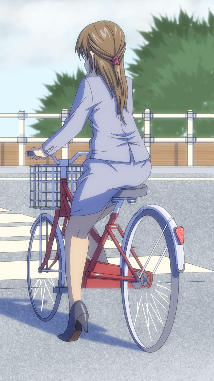 ロング スカート 自転車