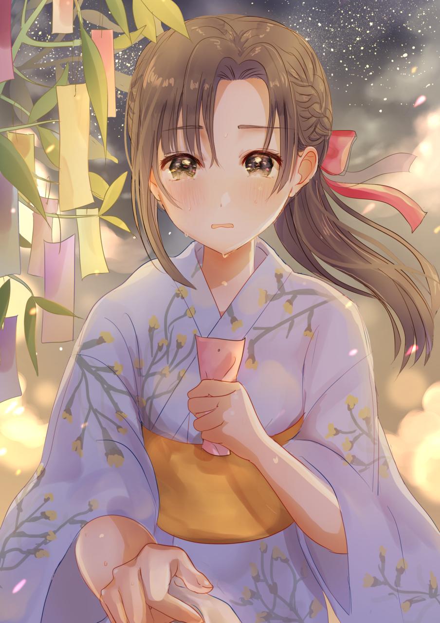 本当に叶えたい願いは Illust of Peach☆Punch 七夕 girl 片思い