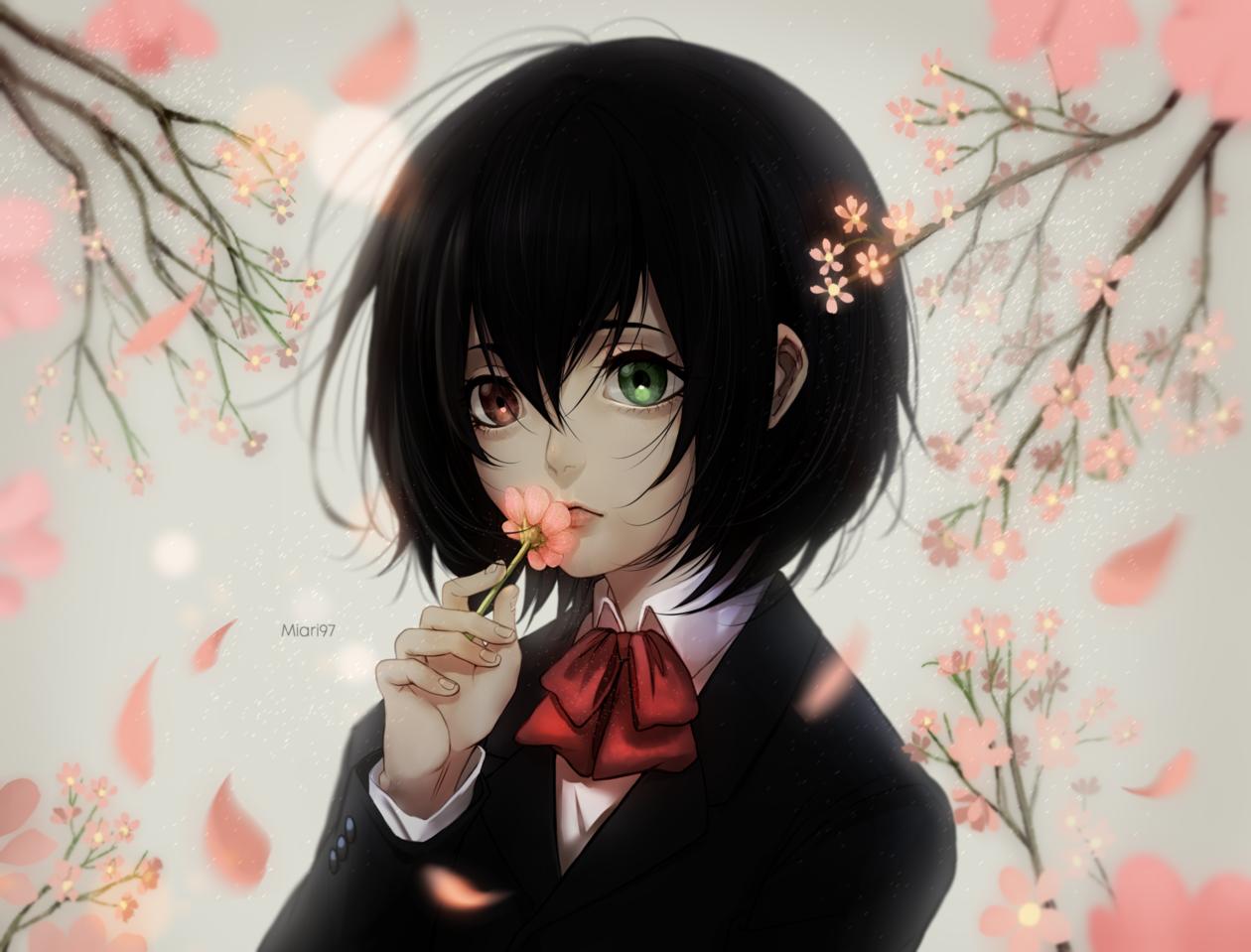 ANOTHER (Misaki Mei) Illust of Miari97 drawing girl misaki anime pink fanart another paint art