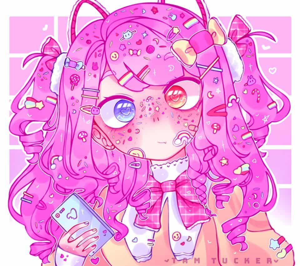 I love pink ❤️❤️❤️ Illust of Tam Tucker April.2020Contest:Color pink