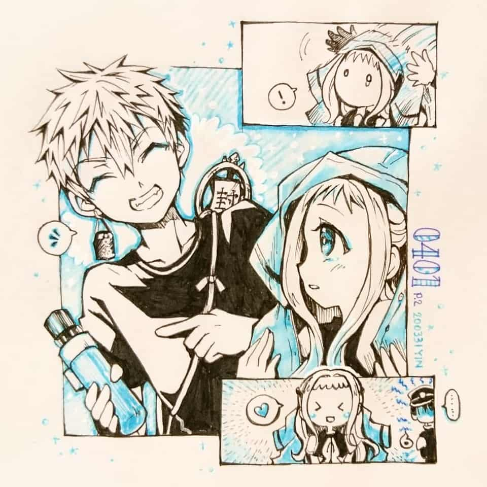 【0401】 Illust of yinhidaka 花子くん Comics 花寧々 源光 NeneYashiro doodle 光寧々 hanakokun handdrawn