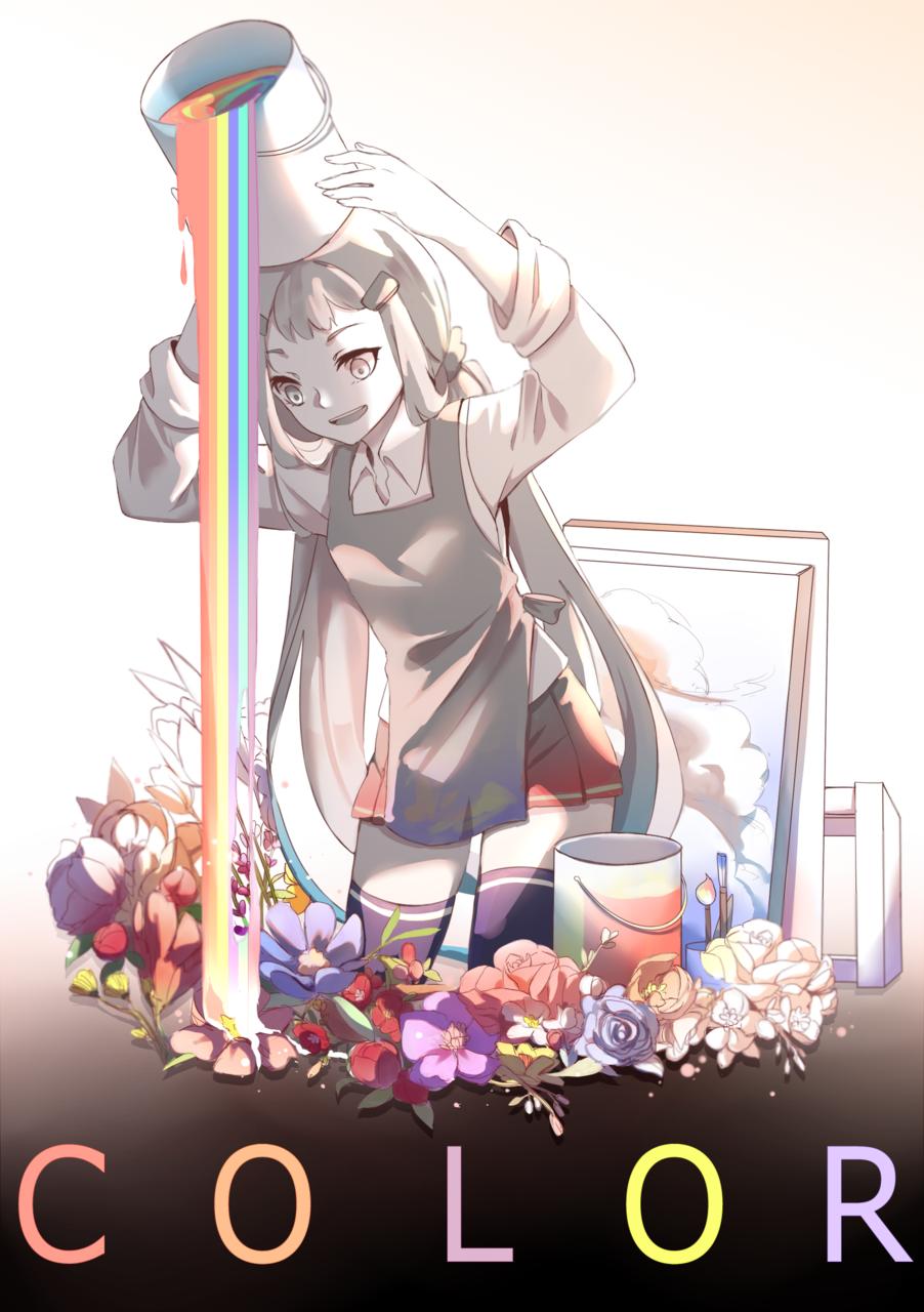 Color Illust of QinLe April.2020Contest:Color blackandwhite color contest