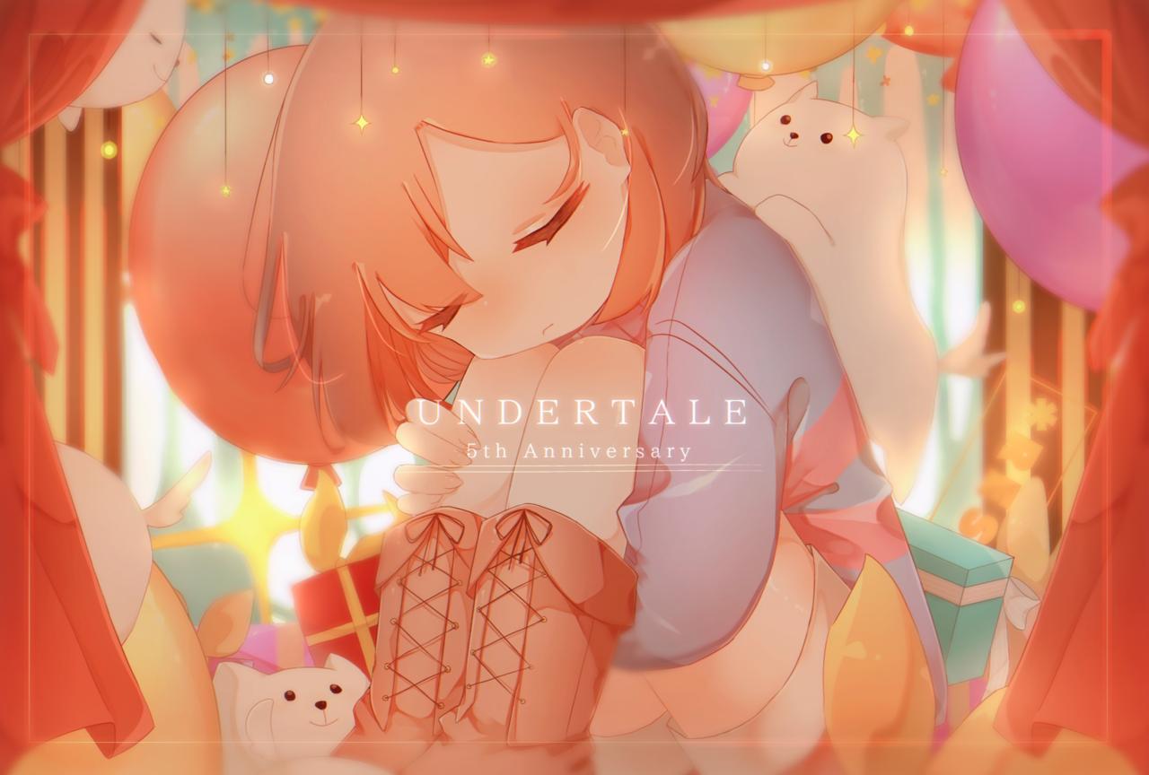 UNDERTALE 5th Anniversary! Illust of ○o。.桜餅.。o○ medibangpaint Frisk undertale