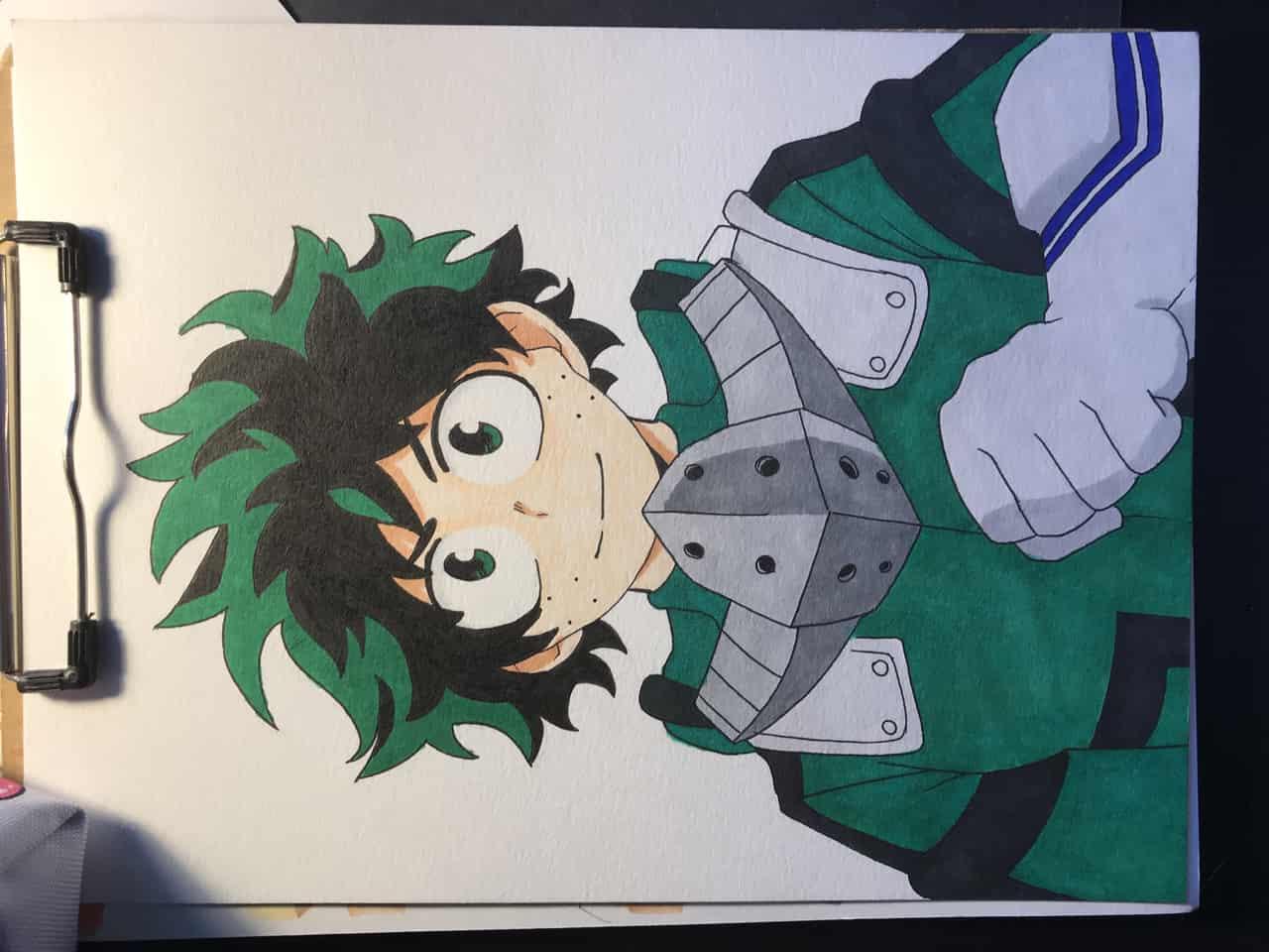 MHA fanart Illust of Cadence Goliath MyHeroAcademia Copic Midoriya markers Izuku_Midoriya simple _Bakugo Katsuki Deku
