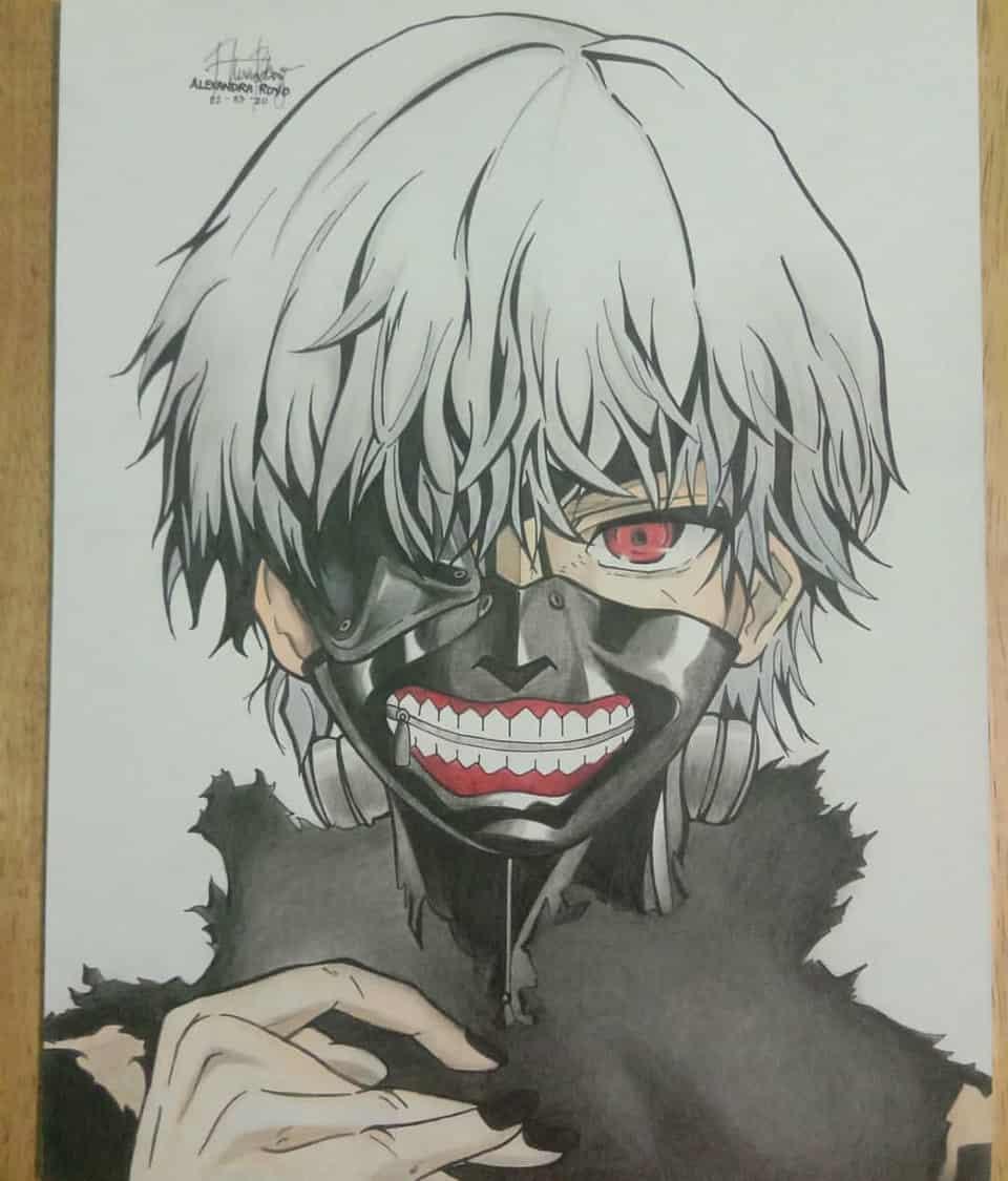 Kaneki Ken Illust of Aeona Kaneki_Ken fanart animeboy medibang anime tokyo_ghoul traditional medibangpaint