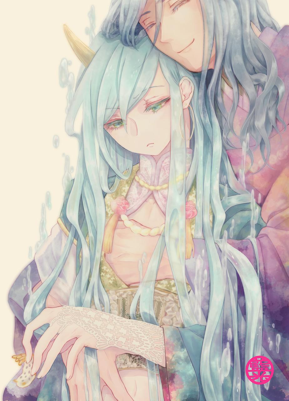 涼を求めて Illust of 山園七椿 Post_Multiple_Images_Contest 創作BL Comics original kimono oc