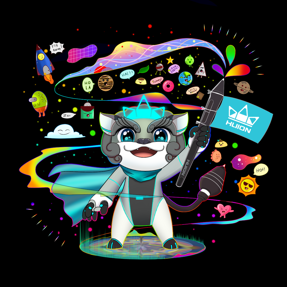 Free Your Imagination! Illust of scrarolinewexbo HuionDesign medibangpaint doodle BrightFuture leon Colorful chibi Positivewaves Imagination