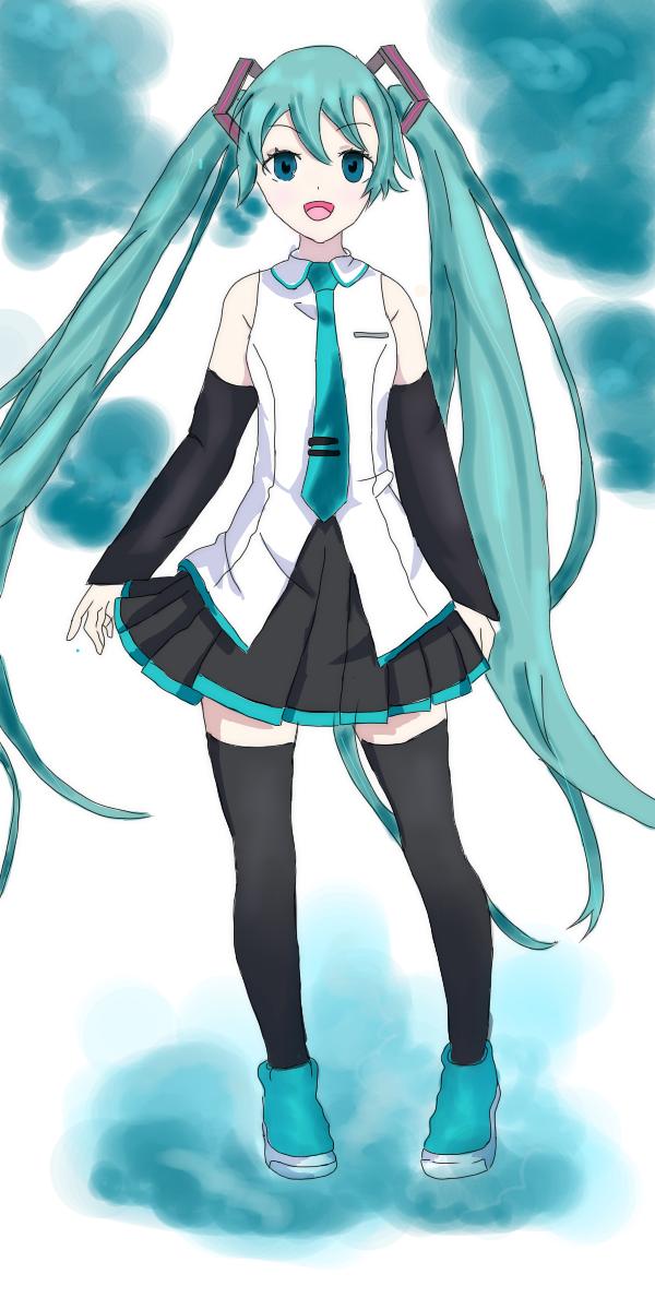 hatsune miku! Illust of ☆°•cee•°☆ medibangpaint anime hatsunemiku animeart cute VOCALOID vocaloidfanart