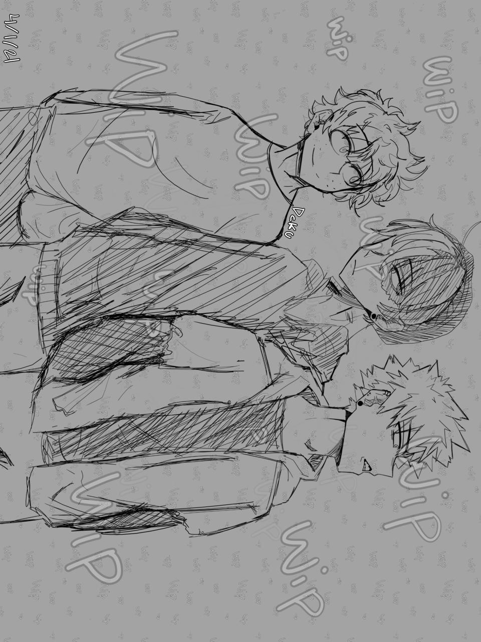 THANK YOU FOT THE 100+ FOLLOWERS  Illust of Dekuchan_336(crazy mode?) medibangpaint WIP anime mhaart bakugoukatsuki Shoto_Todoroki Bakugoufanart dekufanart todorokifanart