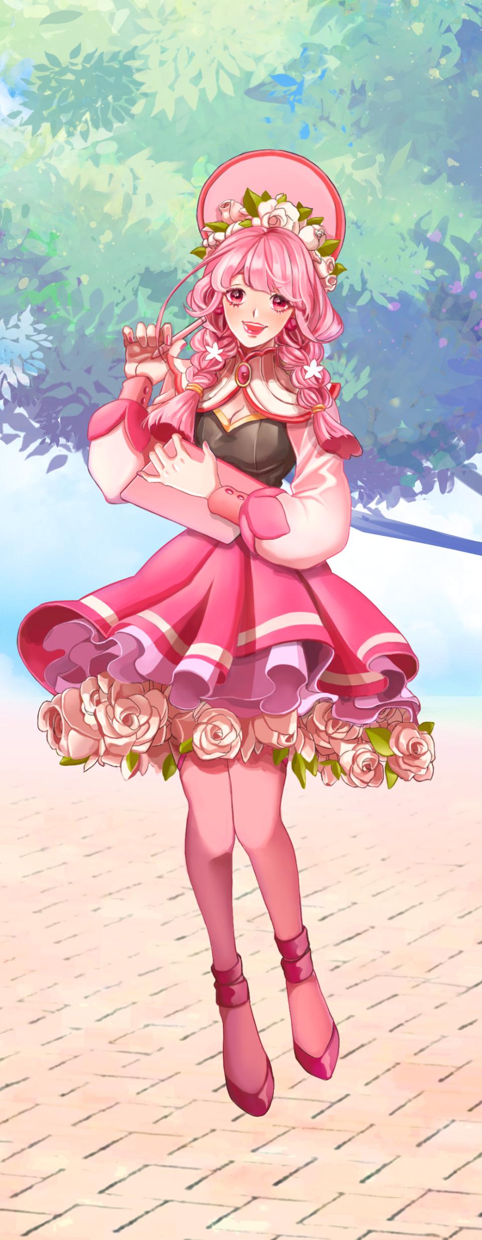 Pink girl Illust of 許阿落 PASTEL_SKETCH2020