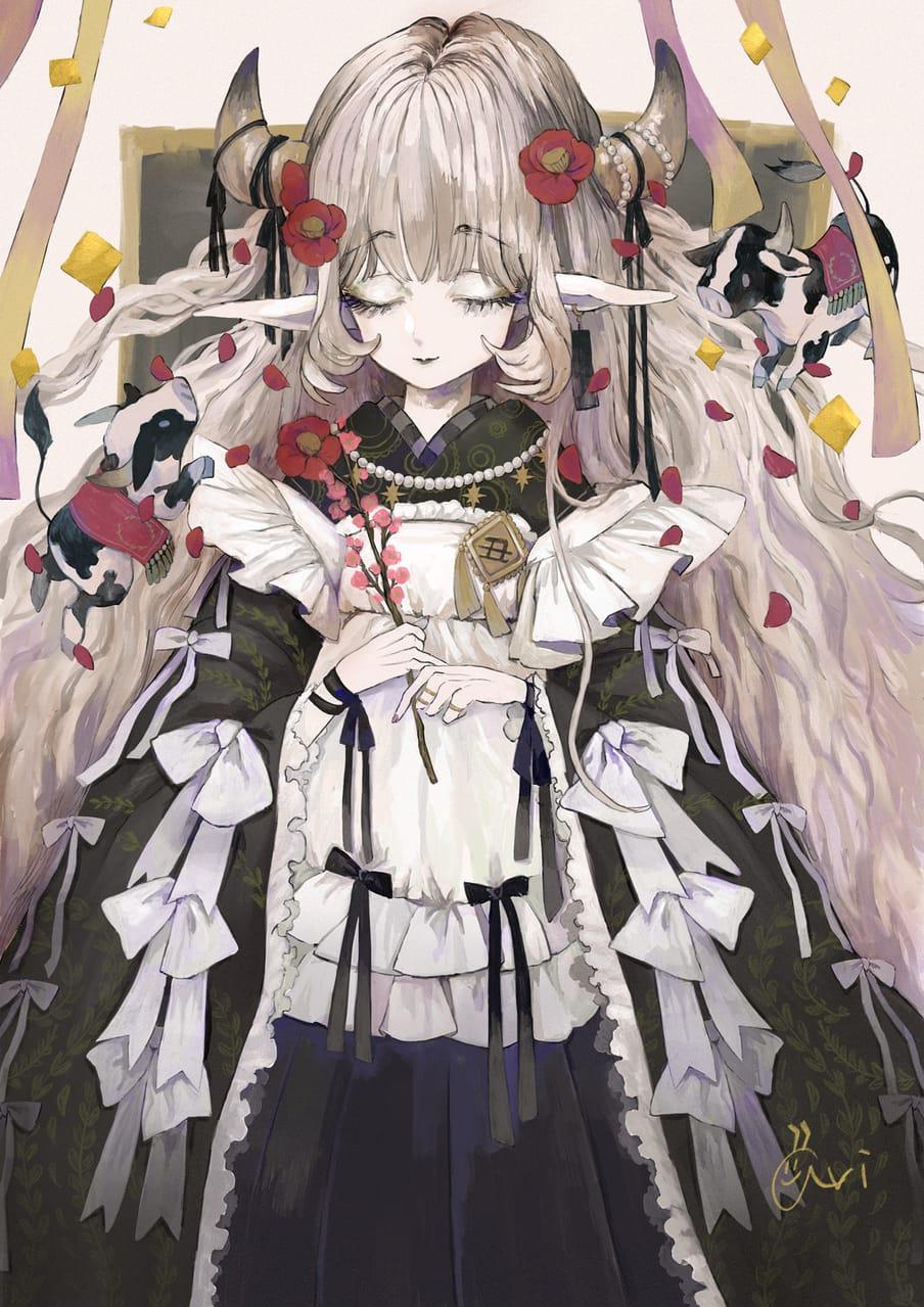 年賀絵 Illust of あり original girl 年賀状