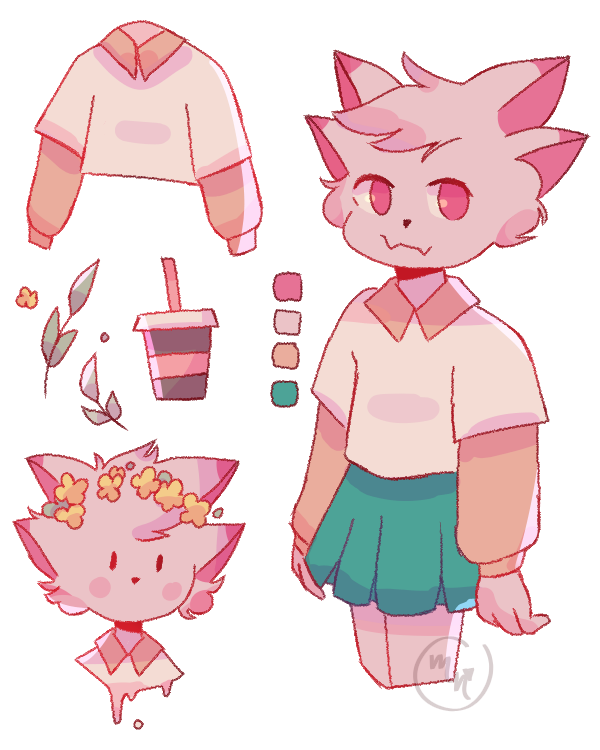 request from creampuffu  Illust of MochiiNiko pastel request aesthetic pink