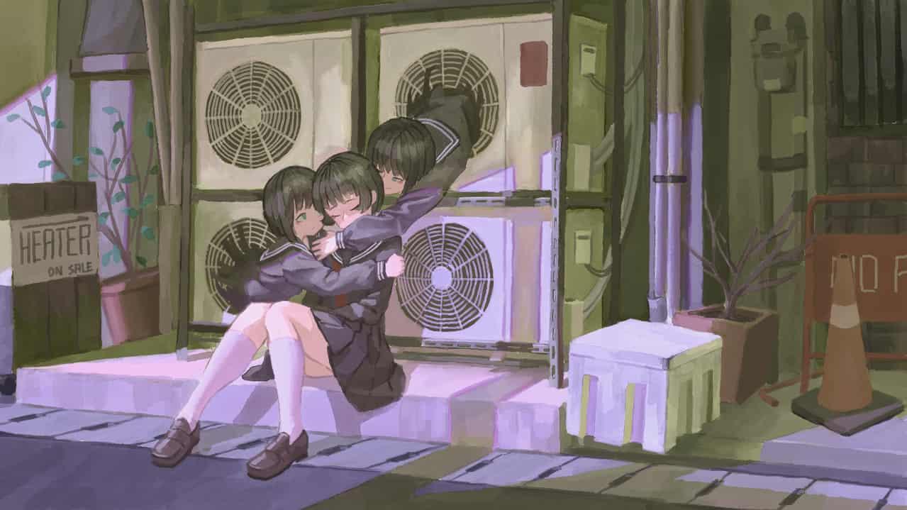 一些溫暖 Illust of OTHERS woman girl sailor_uniform uniform 冷氣機