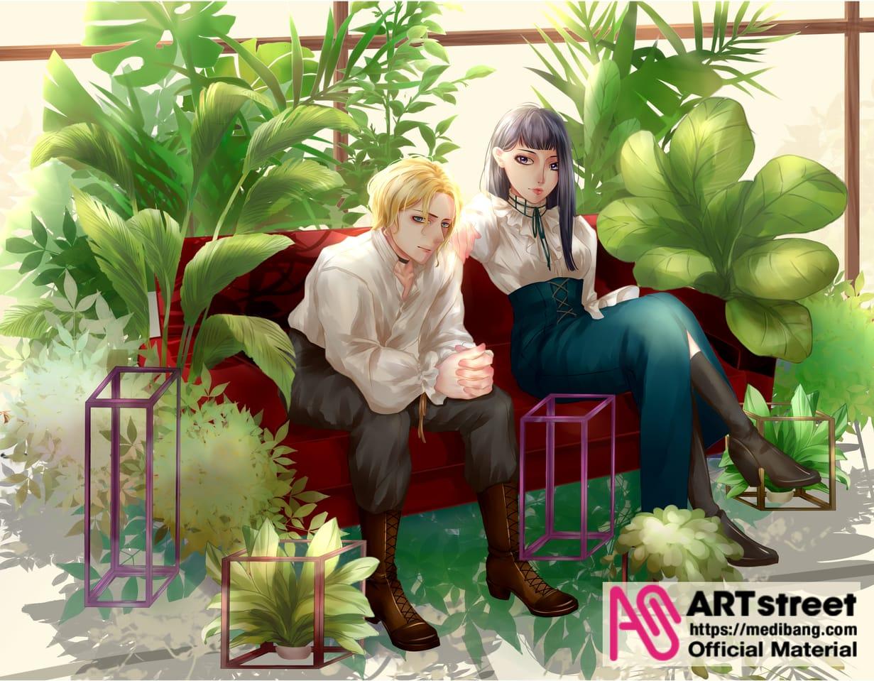一縷陽光 Illust of WinZ tracedrawing4th 情侶 光 植物
