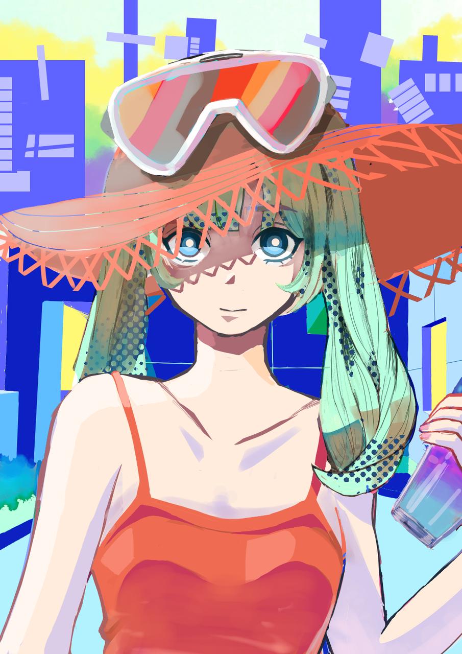 夏日天台 Illust of 靥花