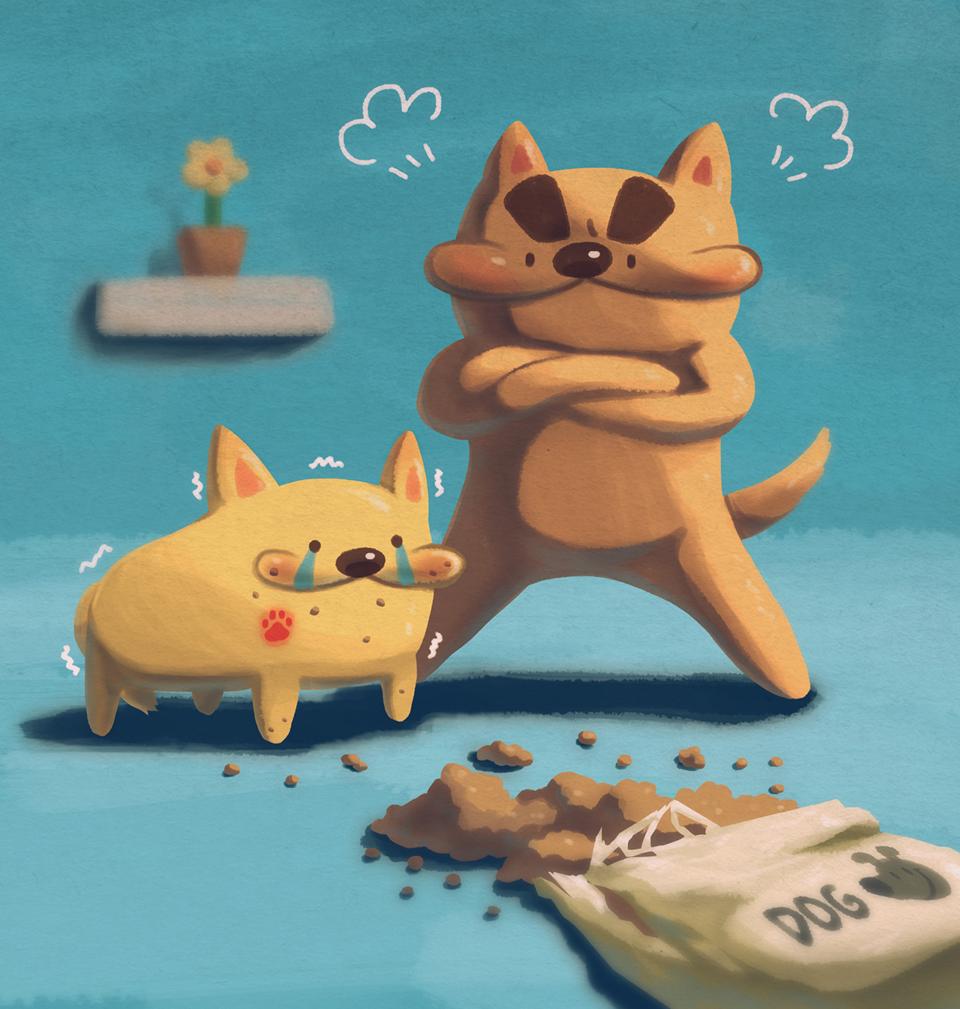 再偷吃呀! Illust of Fuka 芙卡 DOGvsCAT_DOG medibangpaint animal 原創角色 dog