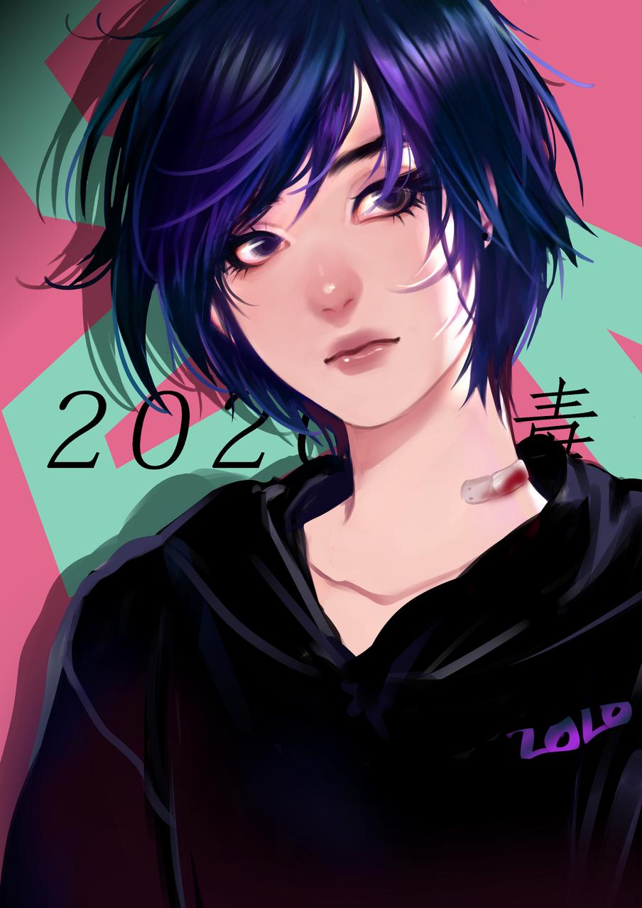 伤 Illust of 画江湖 medibangpaint girl hoodie