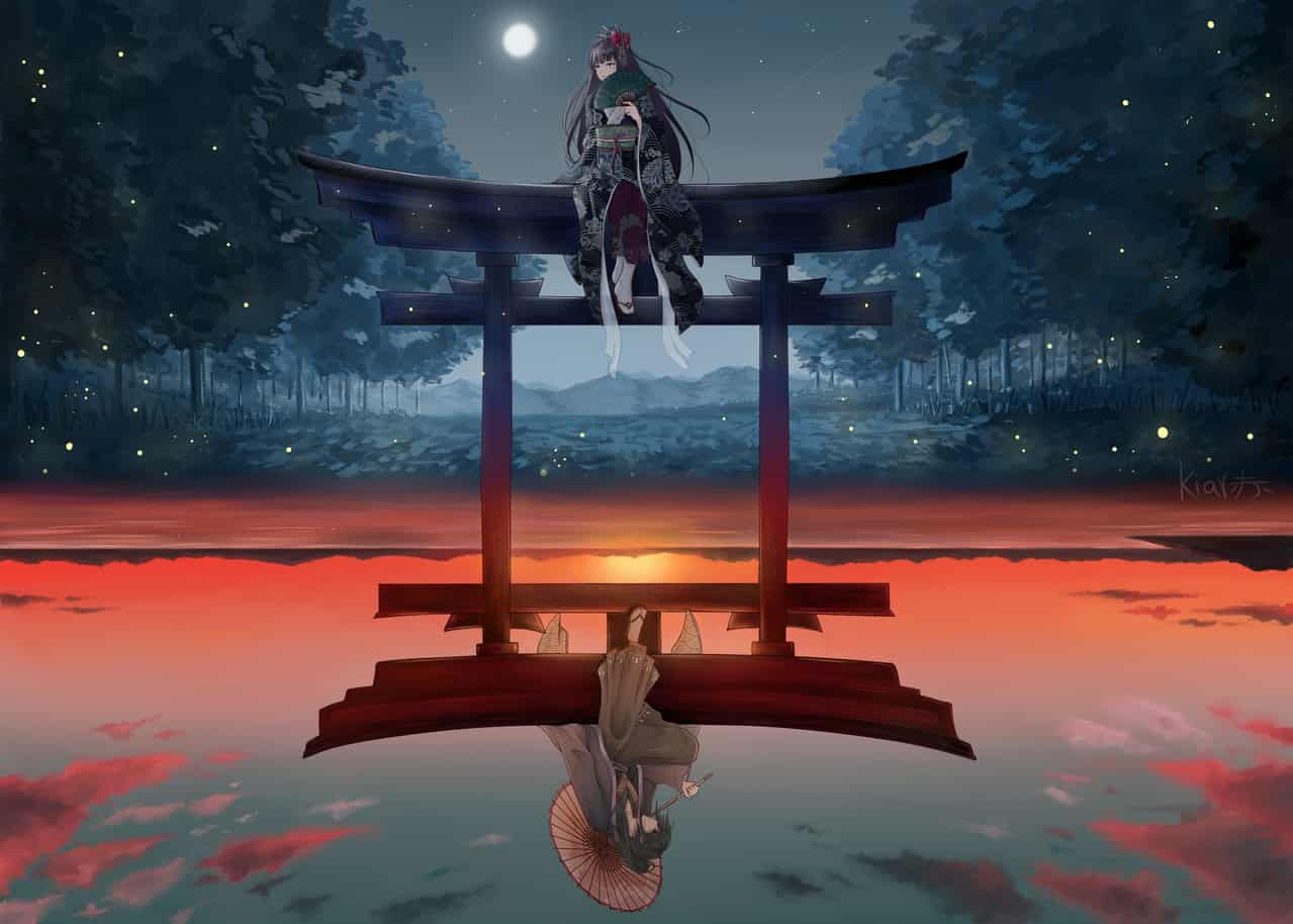 Illusion but Reality Illust of KiarAka Kyoto_Award2020_illustration medibangpaint painting animegirl kimono