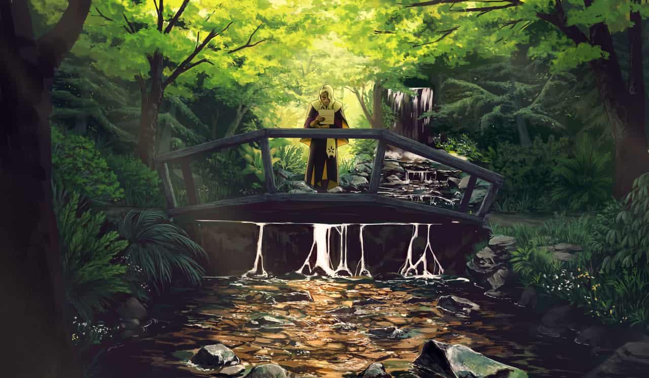 Ruminating Illust of Pai fantasy oc forest background