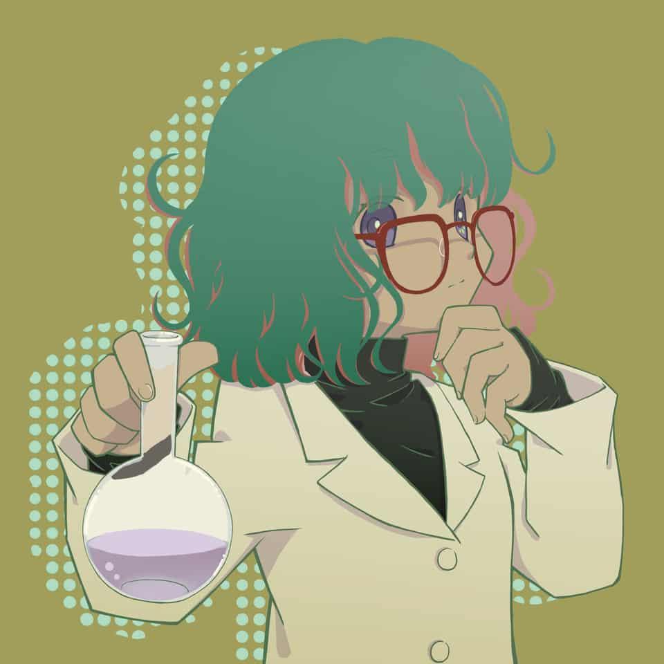 考え中 Illust of 115alva glasses girl 白衣 illustration デジ絵 デジタルイラストレーション イラストレーション