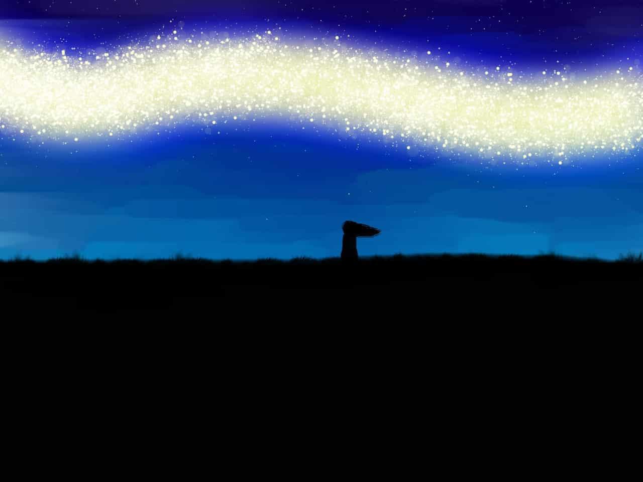Wonder Illust of Rue Lee star art krita digitalpainting night Fireflies