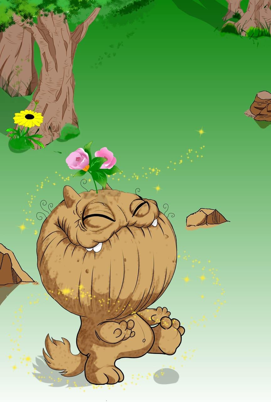 ぐさん (gusan) Illust of zozo April2021_Flower March2021_Creature cute fanart creature medibangpaint illustration flower