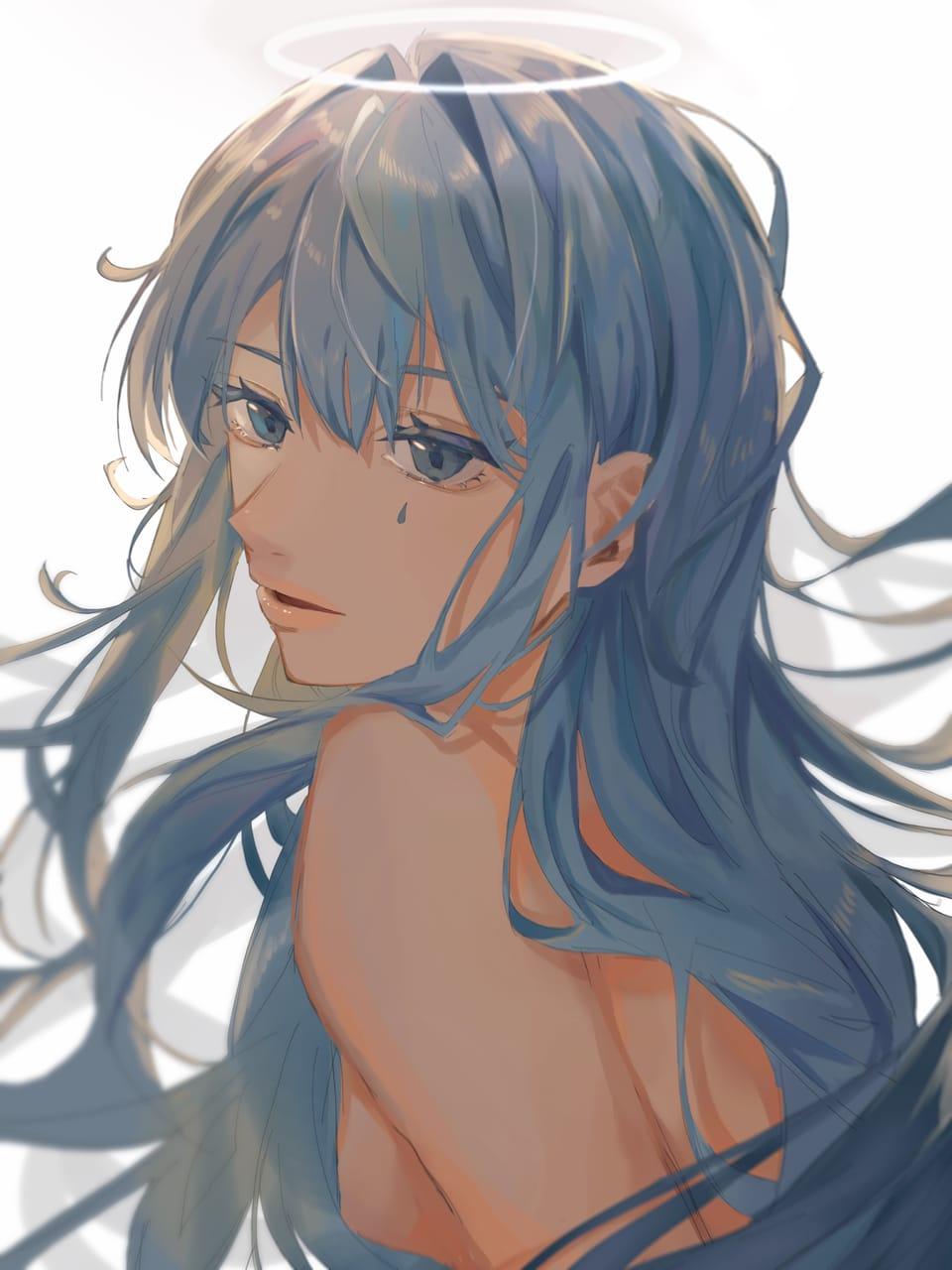 振り返って。 Illust of KuJiRa TaKi September2021_Girl おんなのこ illustration kawaii original longhair